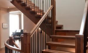 варианты перил для лестниц в доме своими руками