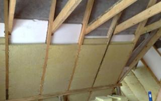 Утепление мансарды изнутри если крыша уже покрыта рубероидом