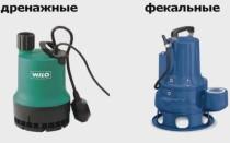 бытовые насосы для откачки канализации наружные