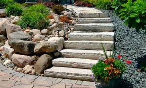 бетонная лестница своими руками на склоне