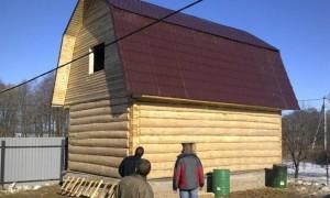 баня 5х6 с мансардой ломаная крыша