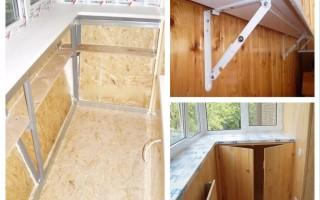 балкон установка подоконника пвх своими руками