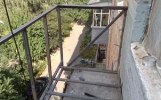 балкон своими руками с профильным каркасом