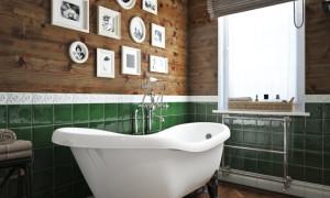 Ванна с окном мансарда дизайн фото