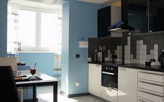 балкон совмещенный с кухней своими руками